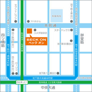 ベックオンの地図